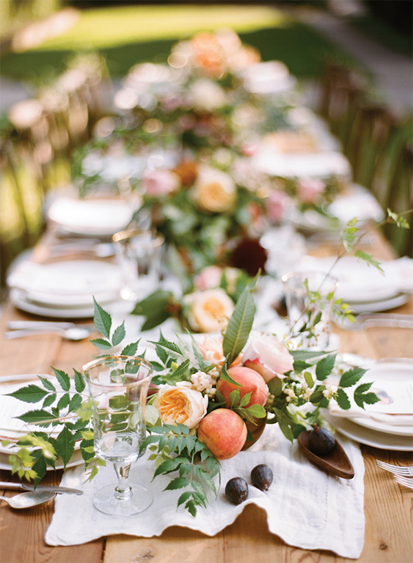 Inspiration for a Fresh peach summer wedding5