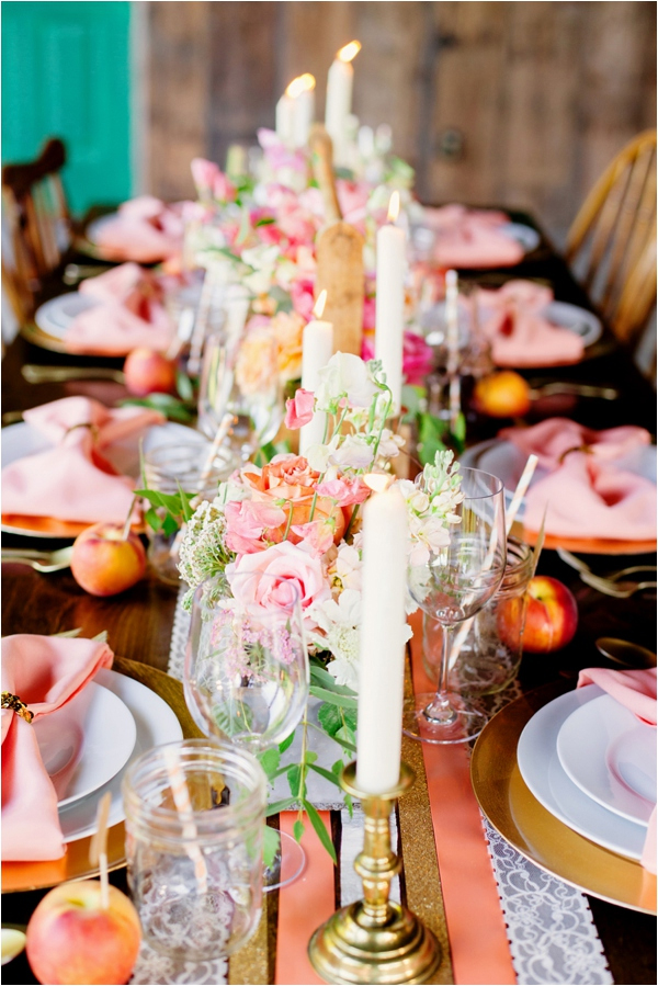 Inspiration for a Fresh peach summer wedding6