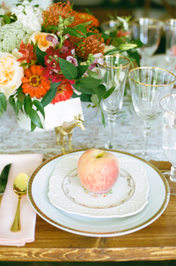 Inspiration for a Fresh peach summer wedding7