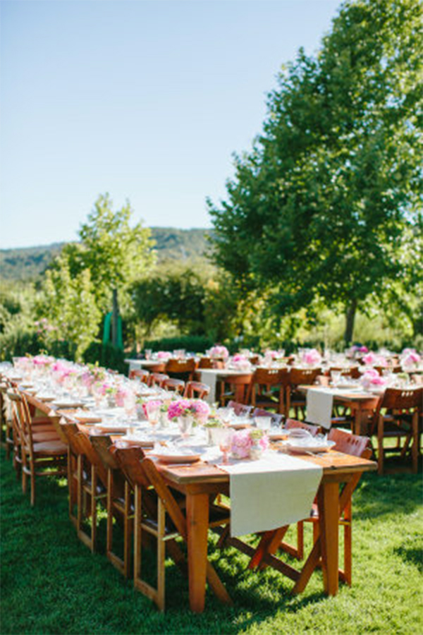 Fresh mint & pink color theme wedding in summer2