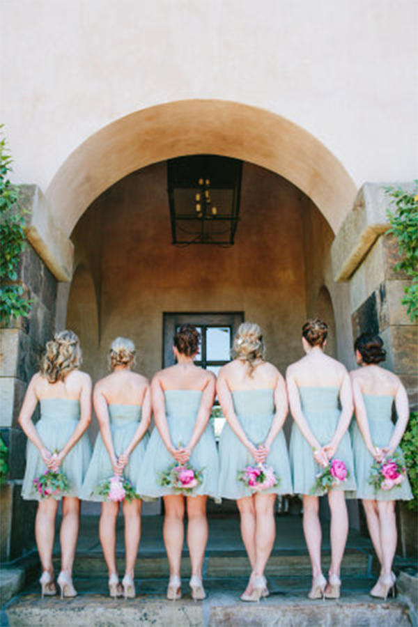 Fresh mint & pink color theme wedding in summer4