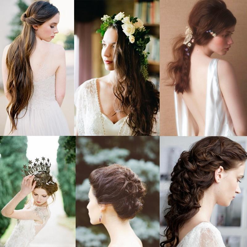 黒髪や濃い色合いの髪の花嫁さんにおすすめのロマンティックなウェディングヘア 20
