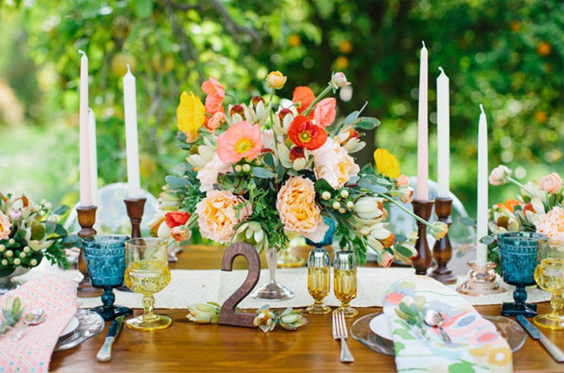 30 Fresh summer citrus color wedding ideas10