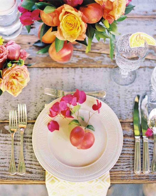 30 Fresh summer citrus color wedding ideas12