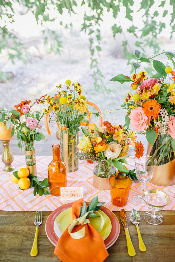 30 Fresh summer citrus color wedding ideas13