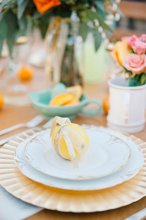 30 Fresh summer citrus color wedding ideas14