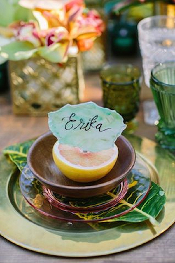30 Fresh summer citrus color wedding ideas15