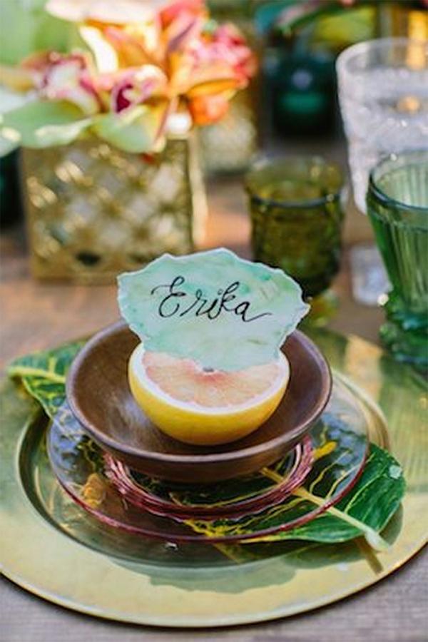 30 Fresh summer citrus color wedding ideas15