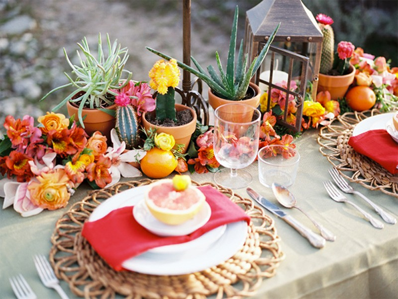 30 Fresh summer citrus color wedding ideas16
