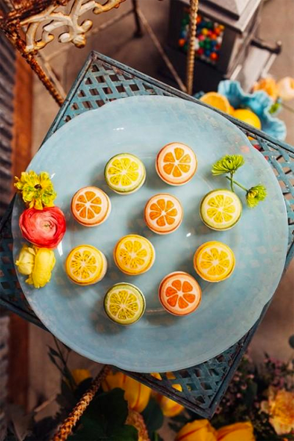 30 Fresh summer citrus color wedding ideas19