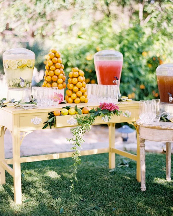 30 Fresh summer citrus color wedding ideas22