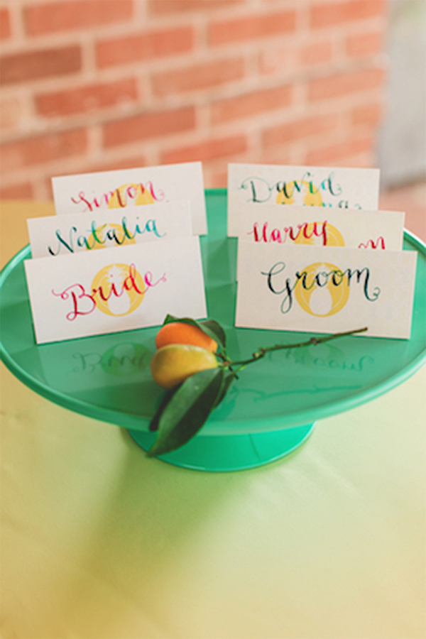 30 Fresh summer citrus color wedding ideas23