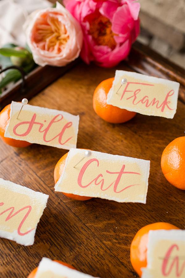 30 Fresh summer citrus color wedding ideas25