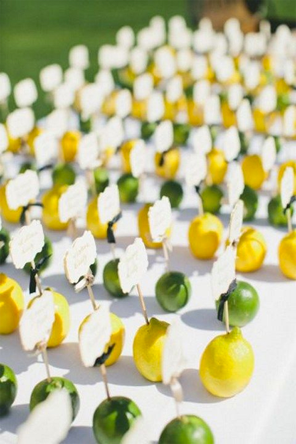 30 Fresh summer citrus color wedding ideas26