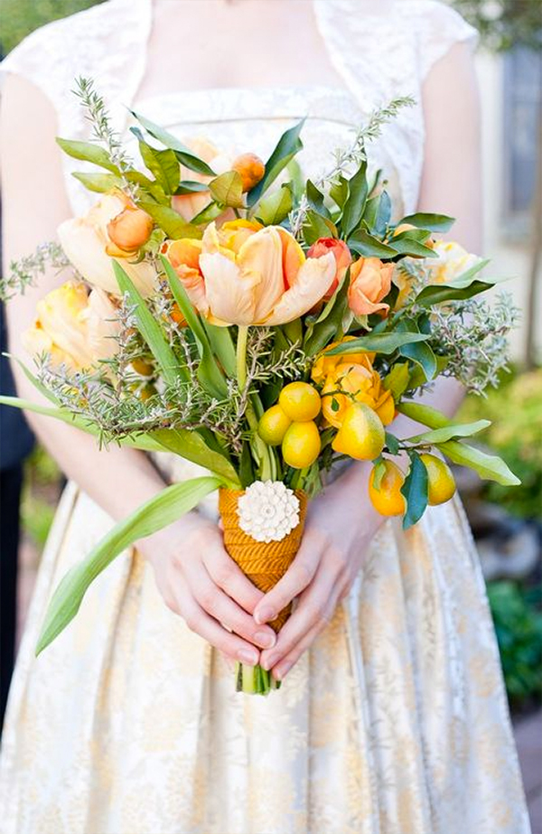 30 Fresh summer citrus color wedding ideas3