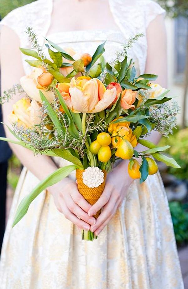 30 Fresh summer citrus color wedding ideas3
