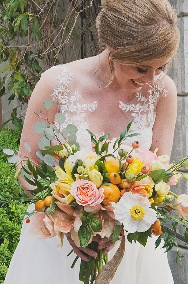 30 Fresh summer citrus color wedding ideas4