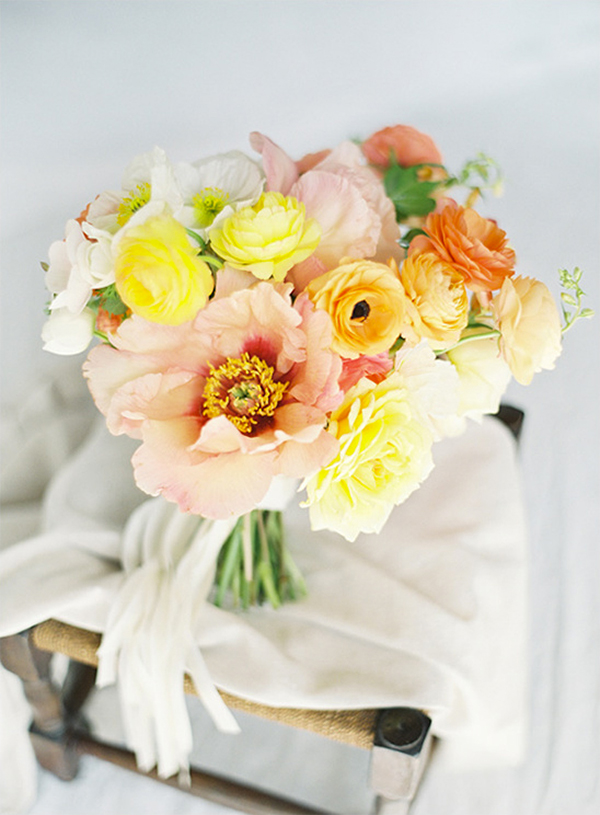30 Fresh summer citrus color wedding ideas5