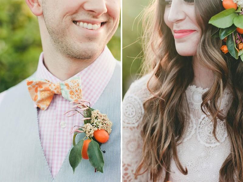 30 Fresh summer citrus color wedding ideas7