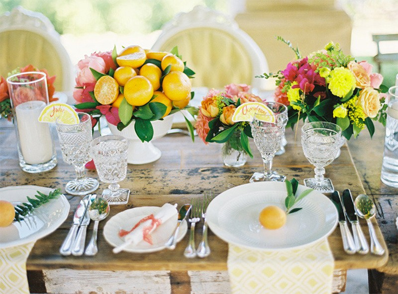 30 Fresh summer citrus color wedding ideas8