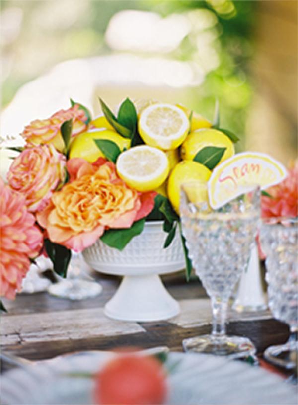 30 Fresh summer citrus color wedding ideas9