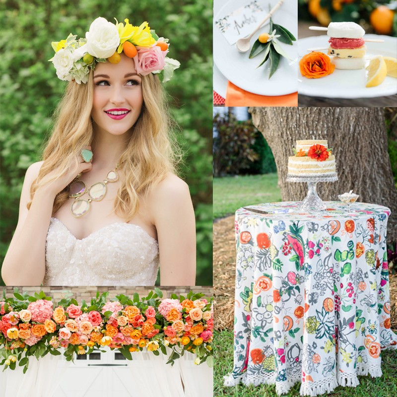 30 Fresh summer citrus color wedding ideas