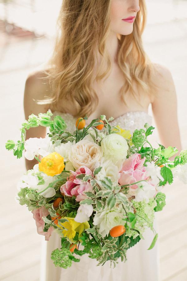 30 Fresh summer citrus color wedding ideas2