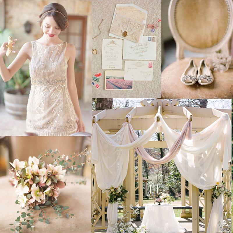 4つのヌーディーな秋のベージュカラーのウェディング<br  />Beige Wedding Color Ideas for Fall