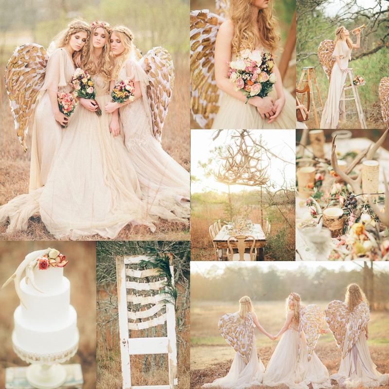 秋のエンジェルウェディングのインスピレーション<br />Inspiration for fall angel wedding