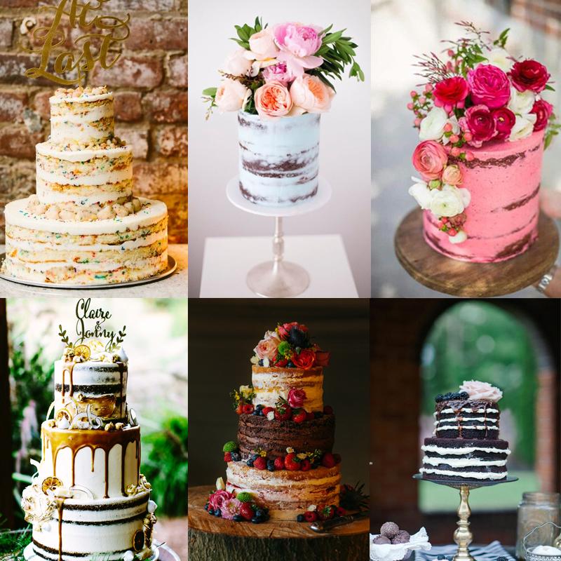 秋のウェディングにおすすめのネイキッドケーキのスタイル 30<br/>Fall Beautiful Naked Wedding cake ideas 30