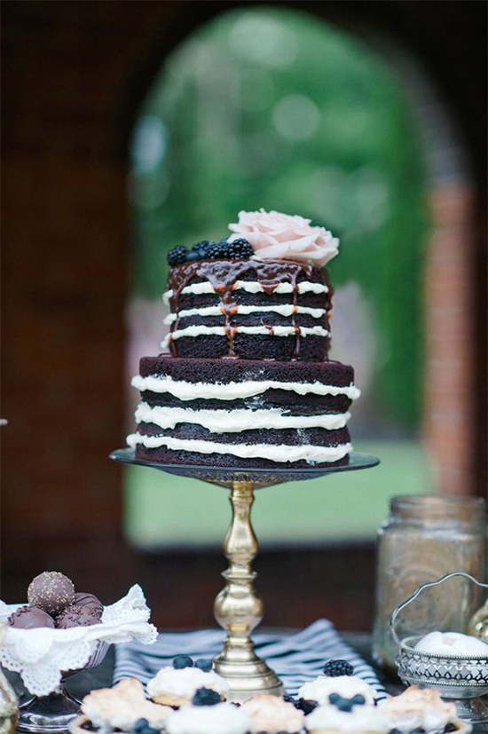 Fall Beautiful Naked Wedding cake ideas22
