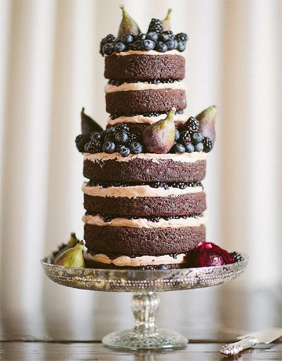 Fall Beautiful Naked Wedding cake ideas23