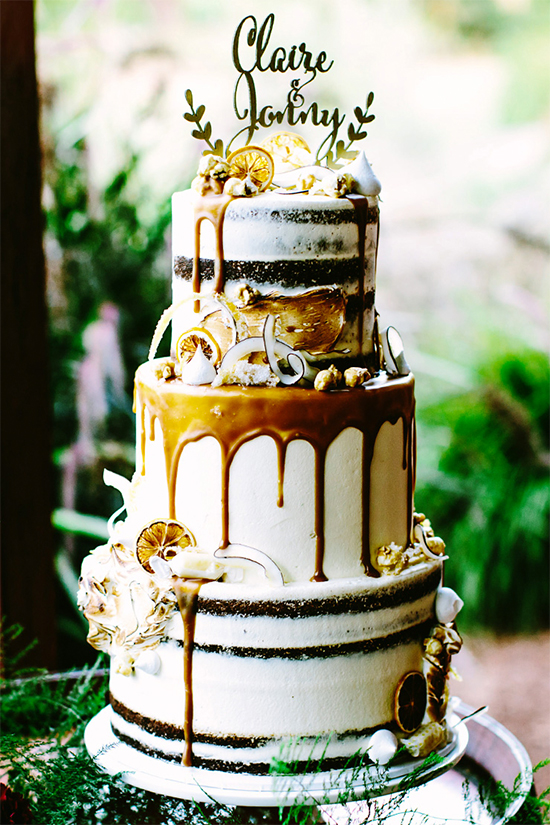Fall Beautiful Naked Wedding cake ideas24