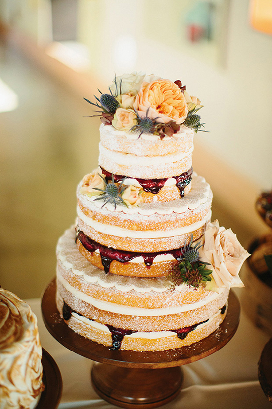 Fall Beautiful Naked Wedding cake ideas 301