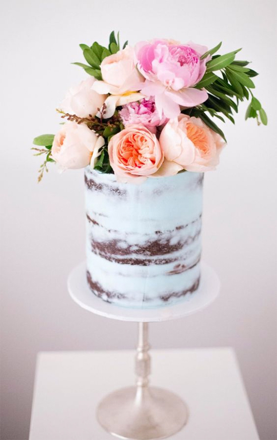 Fall Beautiful Naked Wedding cake ideas 12