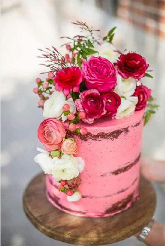 Fall Beautiful Naked Wedding cake ideas17