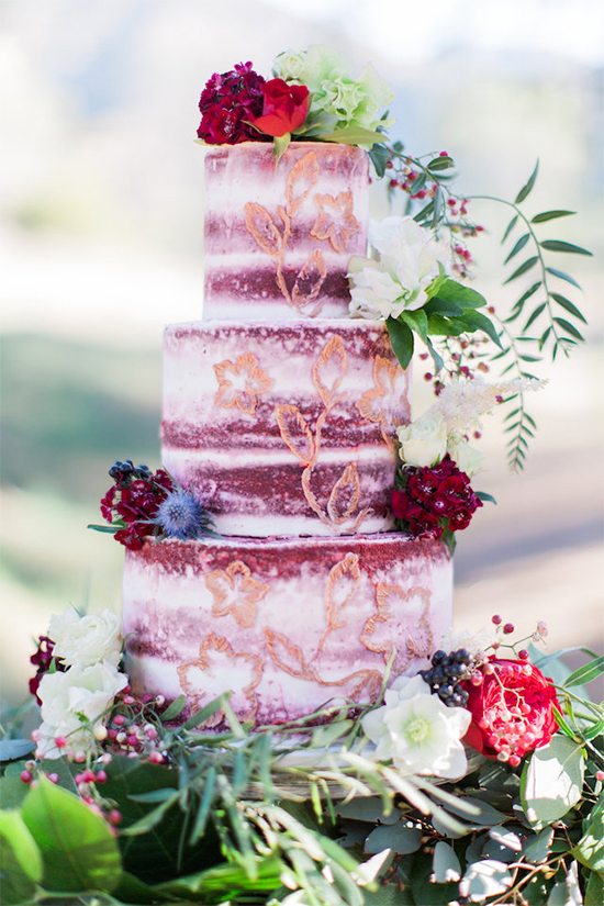 Fall Beautiful Naked Wedding cake ideas18