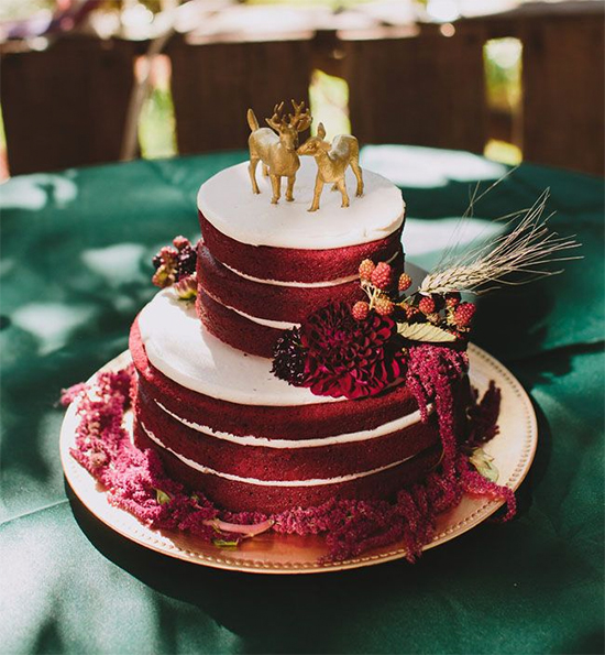 Fall Beautiful Naked Wedding cake ideas 19