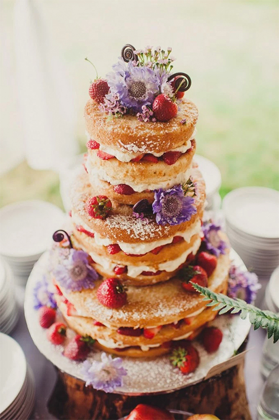 Fall Beautiful Naked Wedding cake ideas 303