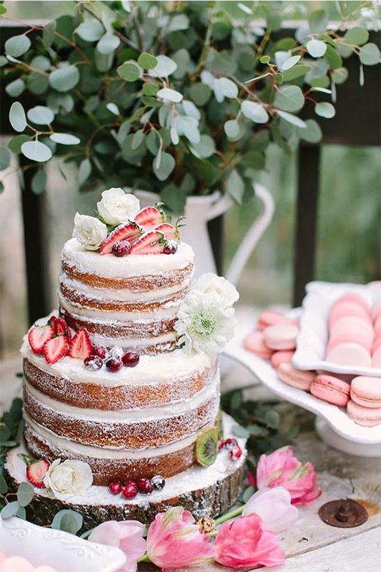 Fall Beautiful Naked Wedding cake ideas9