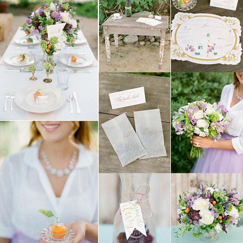 晩夏のラベンダー✖️シトラスカラーのウェディング<br />Inspiration for Lavender and Citrus Watercolor Wedding