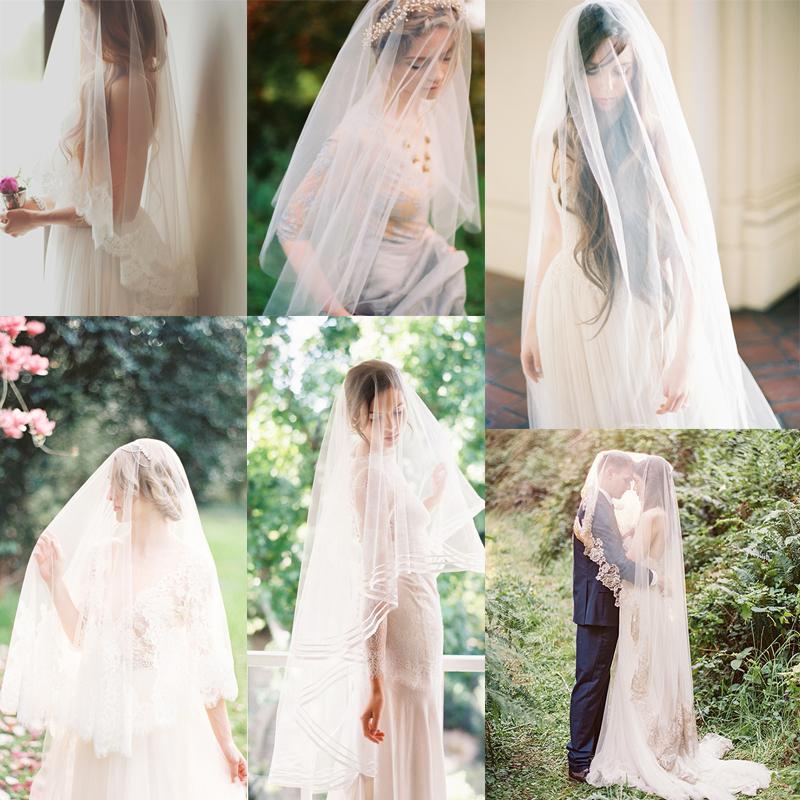 ロングベールのブライダルスタイル<br />20+ Long Wedding Veil Bridal Inspiration