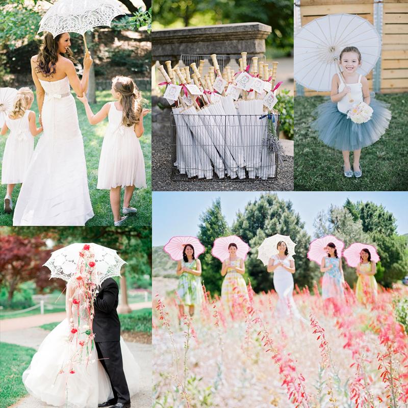 素敵なブライダルパラソルのアイデア<br />Cute Bridal Parasol Ideas