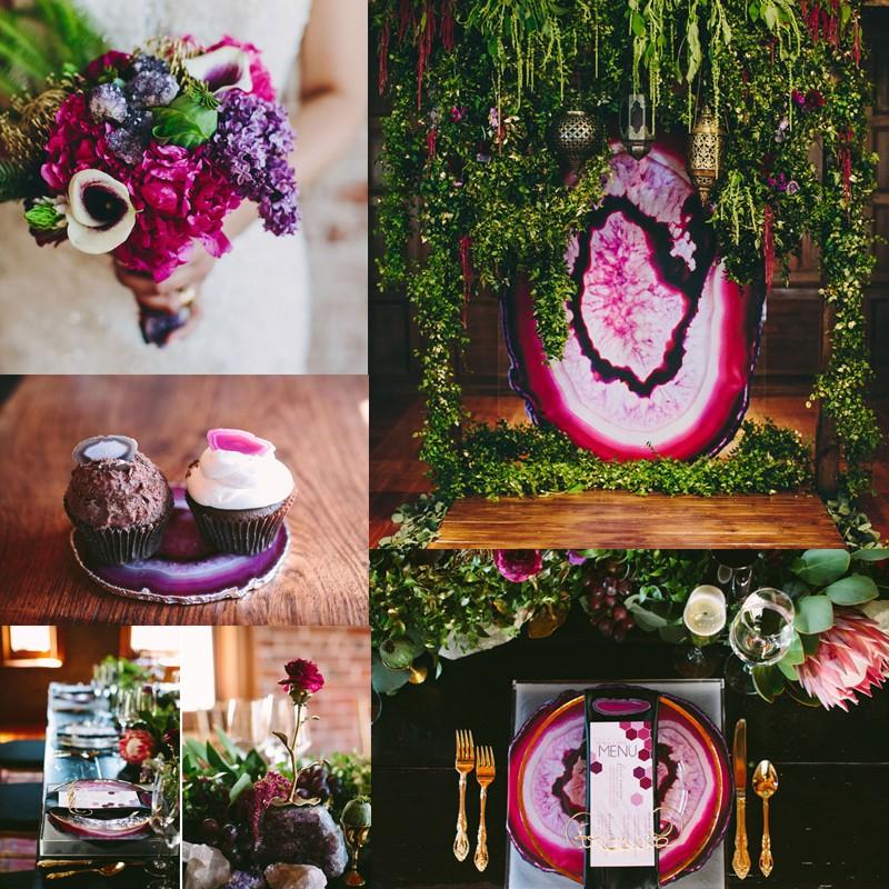 2016-2017年のウェディングトレンド 美しい鉱石の輝き ジオード&アゲートウェディング<br />Hottest Wedding Trends! Beautiful Geode &#038; Agate Wedding