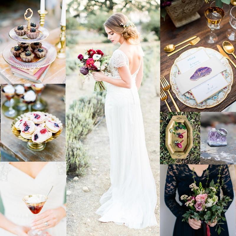 秋のウェディングテーマのアイデア02<br />ジュエルトーンのウェディングインスピレーション<br />Fall Wedding Color Inspiration for JewelTone Wedding