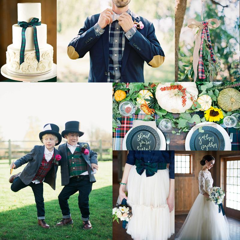 秋と冬のウェディングに!チェック柄を使った最新ウェディングのアイデア!<br />Fall & Winter Pretty Plaid Wedding ideas