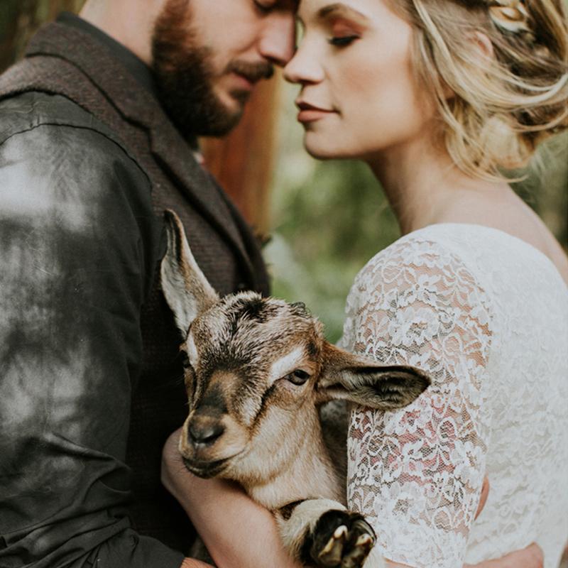 秋とチェックのフォレストウェディング<br />Lumberjack&Plaid Wedding StyledShoot