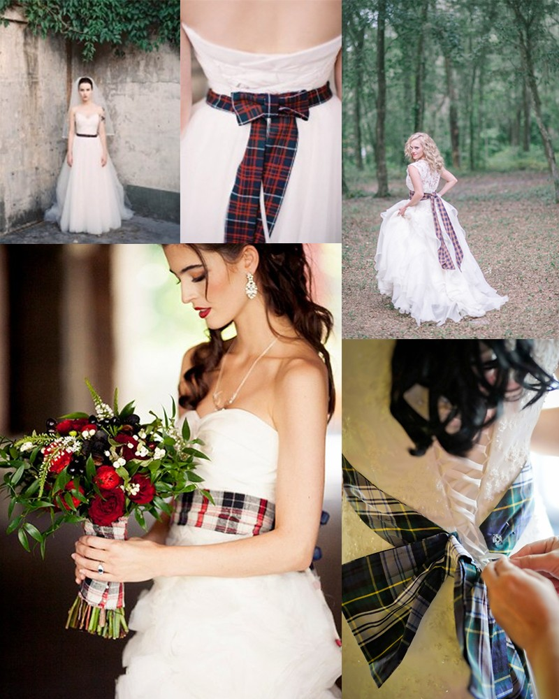 Fall & Winter Pretty Plaid Wedding ideas