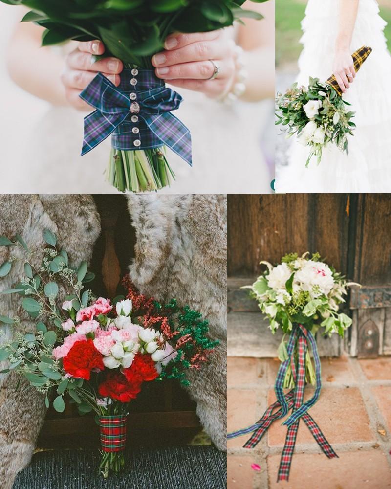 Fall & Winter Pretty Plaid Wedding ideas
