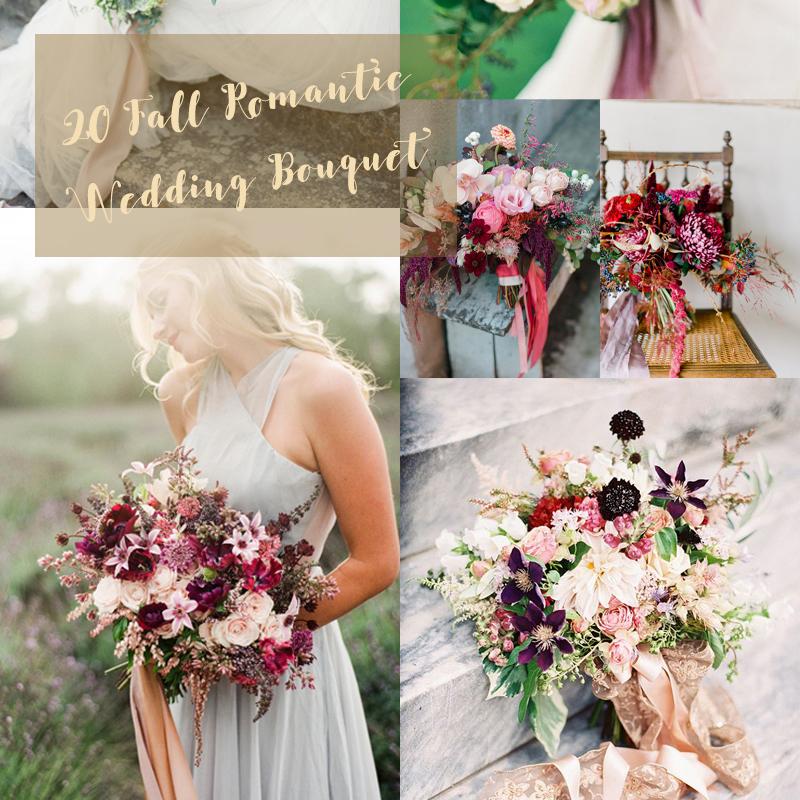 20+ 2016年最新の秋のウェディングブーケのアイデア <br />20+ Fall Romanti Wedding Bouquet ideas 2016